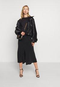 Weekday - WAVE SKIRT - A-line skirt - black - 1