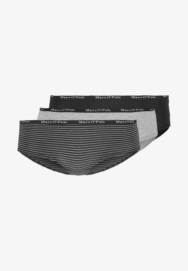 PANTY 3 PACK - Onderbroeken - blauschwarz