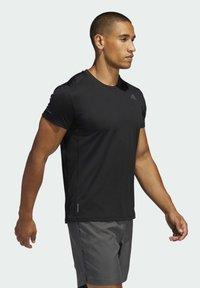 adidas Performance - RESPONSE AEROREADY RUNNING SHORT SLEEVE TEE - T-shirt imprimé - black - 1