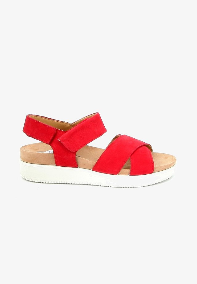 IWAG - Sandalen met plateauzool - red