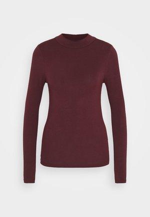 TURTLE NECK - Maglietta a manica lunga - dark burgundy