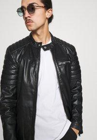 Freaky Nation - SHEEP CHARLY ACTION - Leather jacket - black - 3