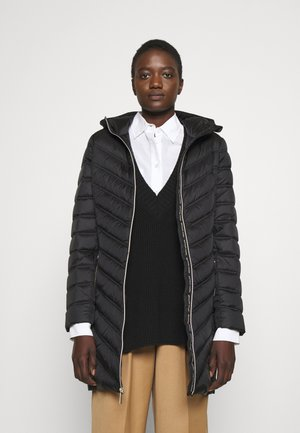 LONG PACKABLE PUFFER - Down coat - black