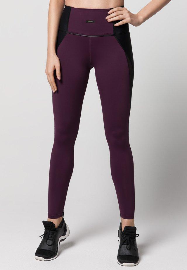 VELOCITY - Leggings - Trousers - mulberry