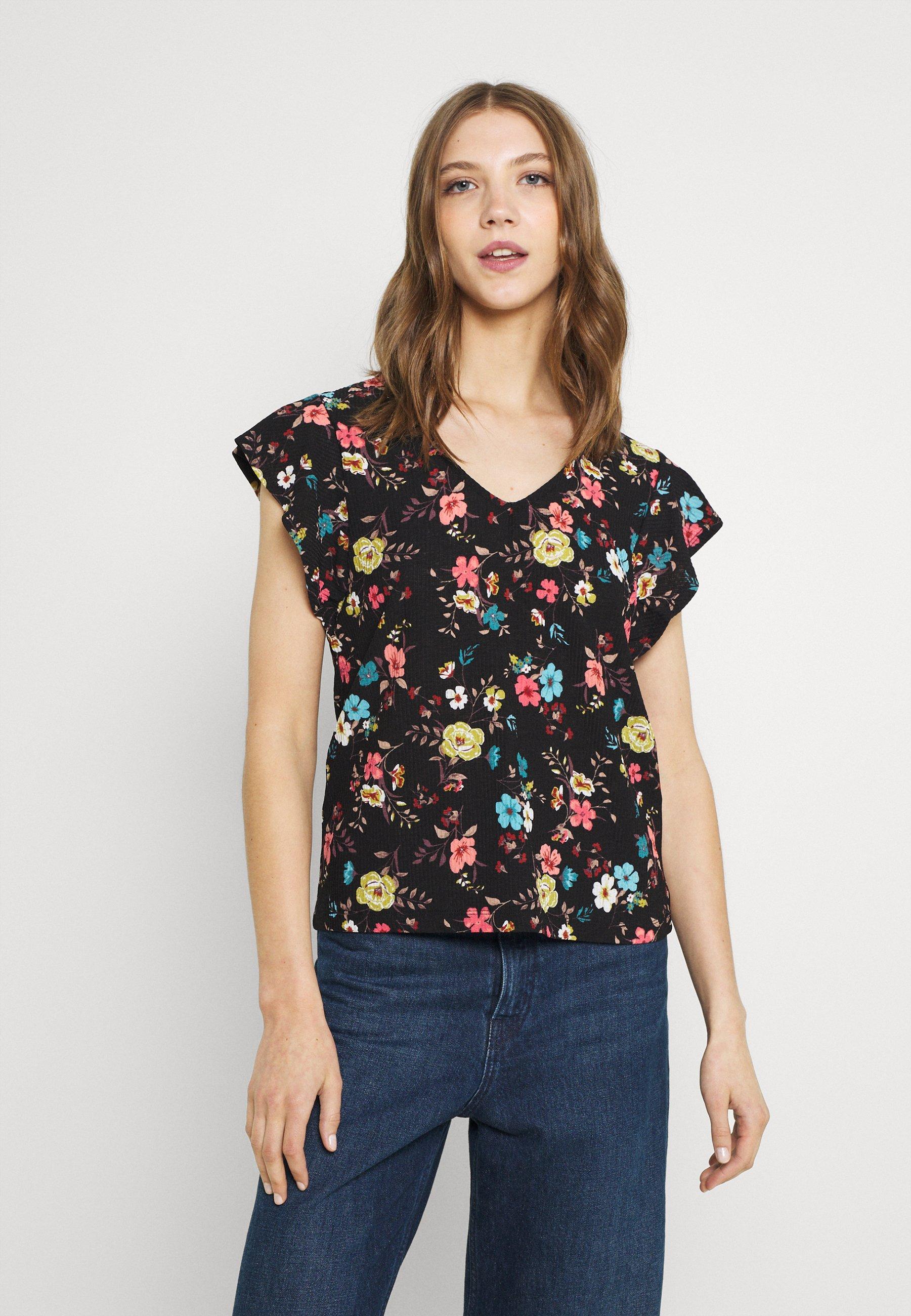 Damen JDYGITTE SVANS V NECK - T-Shirt print
