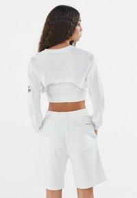 Bershka - Long sleeved top - white - 2