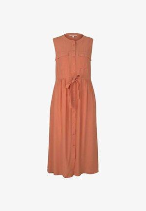 Shirt dress - sundown coral