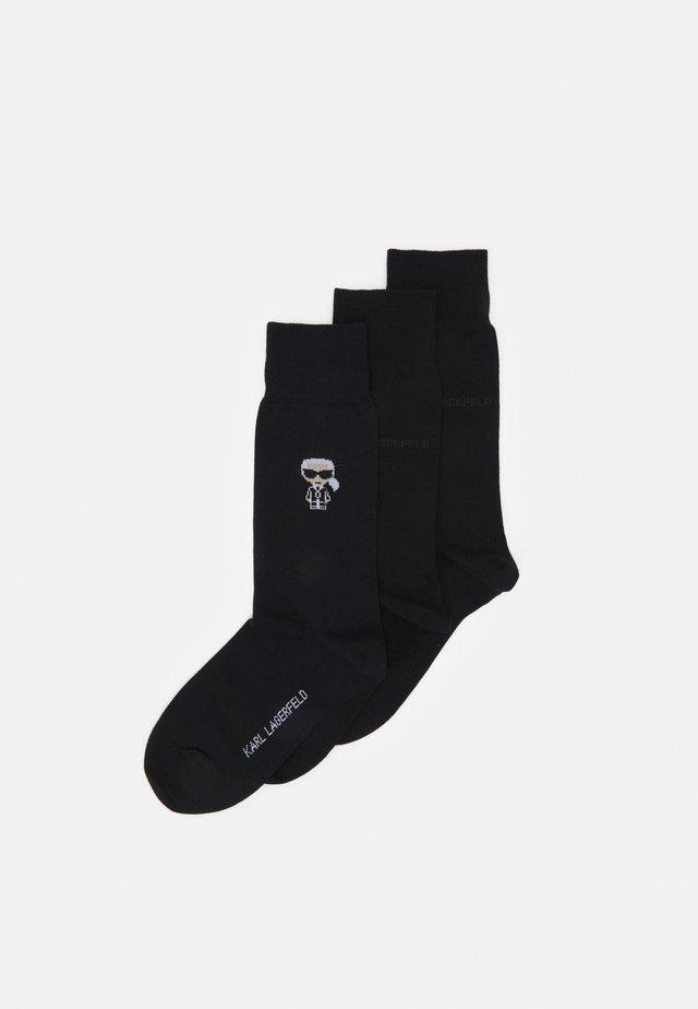 3PACK - Socks - black