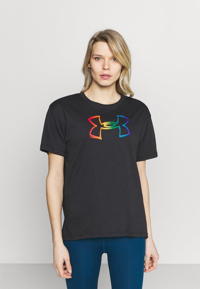 Under Armour - PRIDE GRAPHIC - Print T-shirt - black