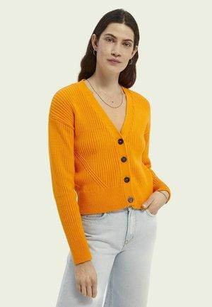 Cardigan - bright orange