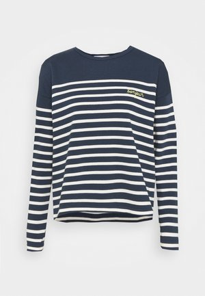 COOL SAILOR BONJOUR - Long sleeved top - midnight blue ivory