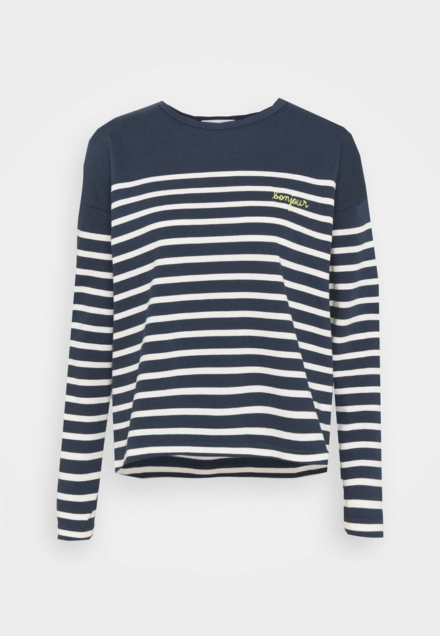 COOL SAILOR BONJOUR - Top s dlouhým rukávem - midnight blue ivory