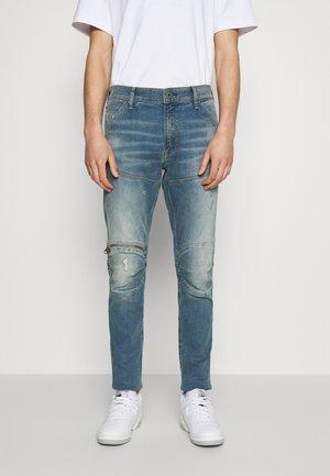 5620 3D ZIP KNEE SKINNY - Jeans Skinny Fit - antic faded monaco blue