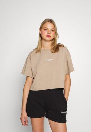 DARI WOMEN - T-shirt med print - warm grey