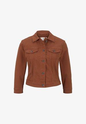 Denim jacket - goji orange