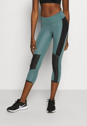 RUN ANYWHERE CROP - Leggings - lichen blue