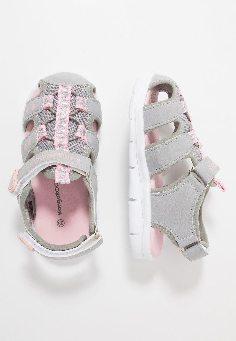 KangaROOS - K-MINI - Sandals - vapor grey/english rose