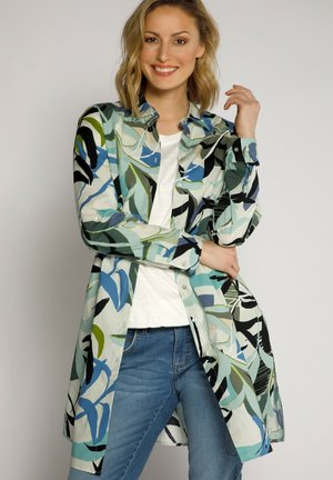 Button-down blouse - mattes oliv