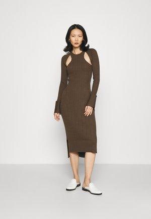 VARIEGATED  DRESS SCOOPED  - Jumper dress -  olive