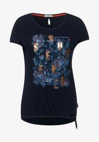 Cecil - MIT SCHLEIFEN DETAIL - Print T-shirt - blau - 3