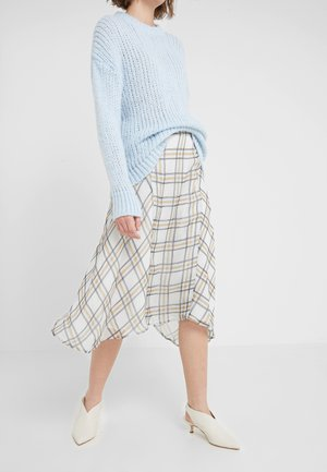 CHECK KATE SKIRT - A-line skirt - snow white