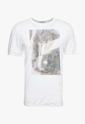 JPRGARY TEE CREW NECK - T-Shirt print - white