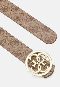 Guess - CORDELIA LOGO ADJUST PANT BELT - Cintura - latte brown - 1