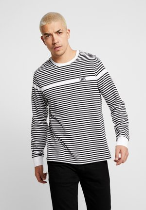 AUTHENTIC TEE - Long sleeved top - white/ mineral black