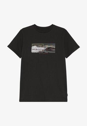 INVERSE TEE BOY - Camiseta estampada - black