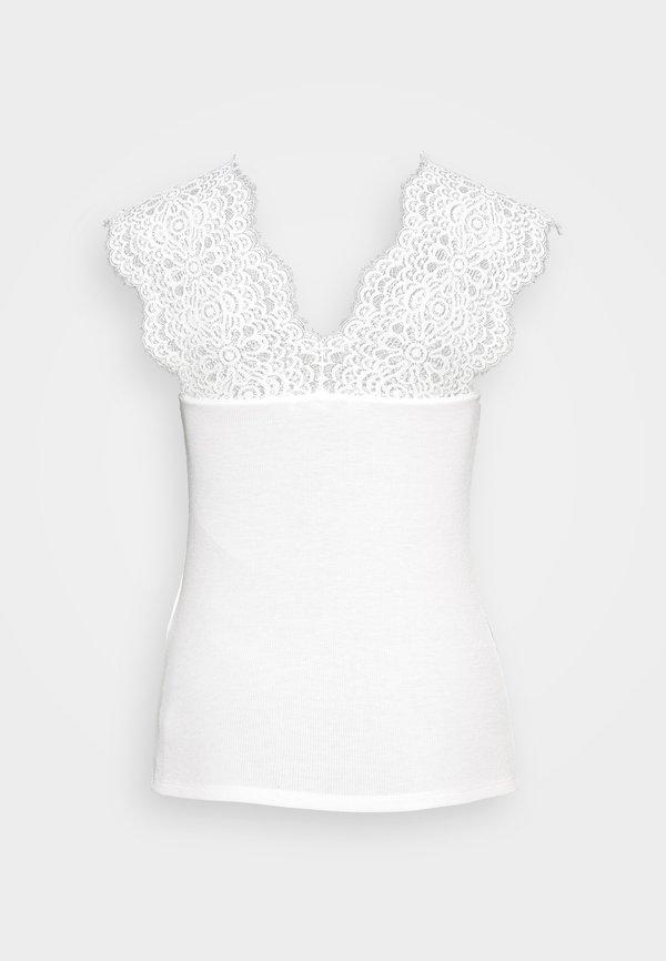 Morgan DENA - T-shirt basic - off-white Kolor jednolity Odzież Damska JFCA IV 4