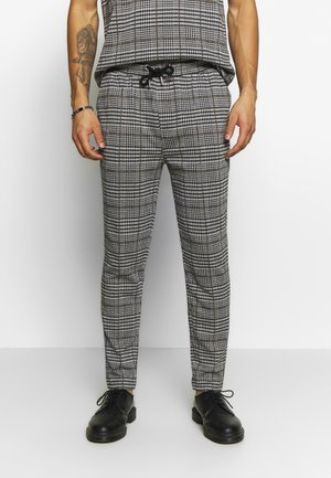 CHECK JOGGER - Trousers - grey