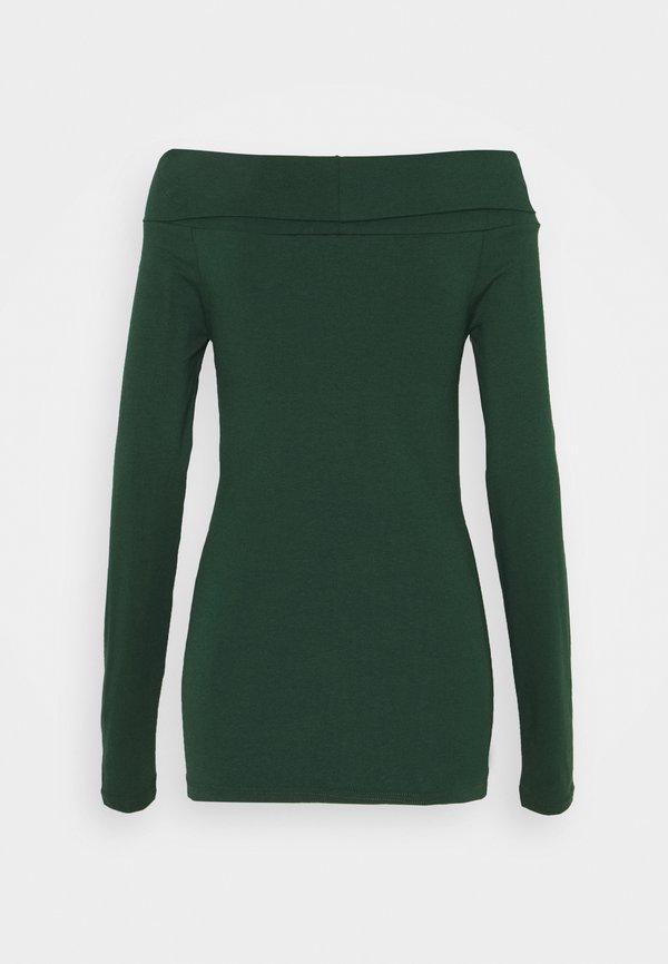 Vero Moda Tall VMPANDA OFF SHOULDER VIP - Bluzka z długim rękawem - pine grove Kolor jednolity Odzież Damska IDAN HT 5