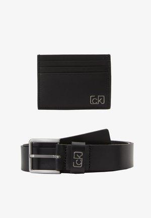 SIGNATURE BELT CARDHOLDER SET - Skärp - black