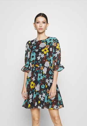 PUFF SLEEVE DRESS - Kjole - black flower