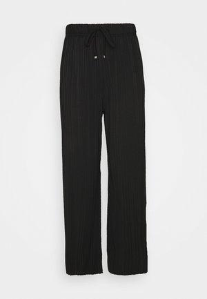 PLEATED TROUSER - Kalhoty - black