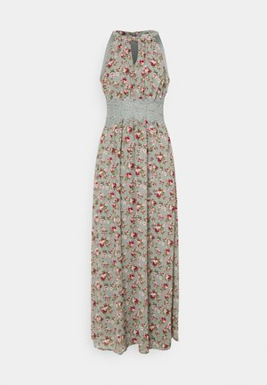 VIMILINA FLOWER DRESS - Maxi dress - green milieu/red/pink