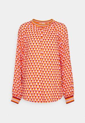 Long sleeved top - pink/orange