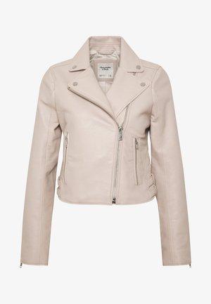 BIKER - Faux leather jacket - cream