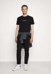 Hollister Co. - PULLON CROP - Trousers - black - 1
