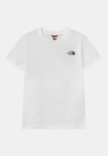 EXPLORE UNISEX - Printtipaita - white/black/red