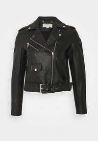 CLASSIC MOTO - Kožená bunda - black