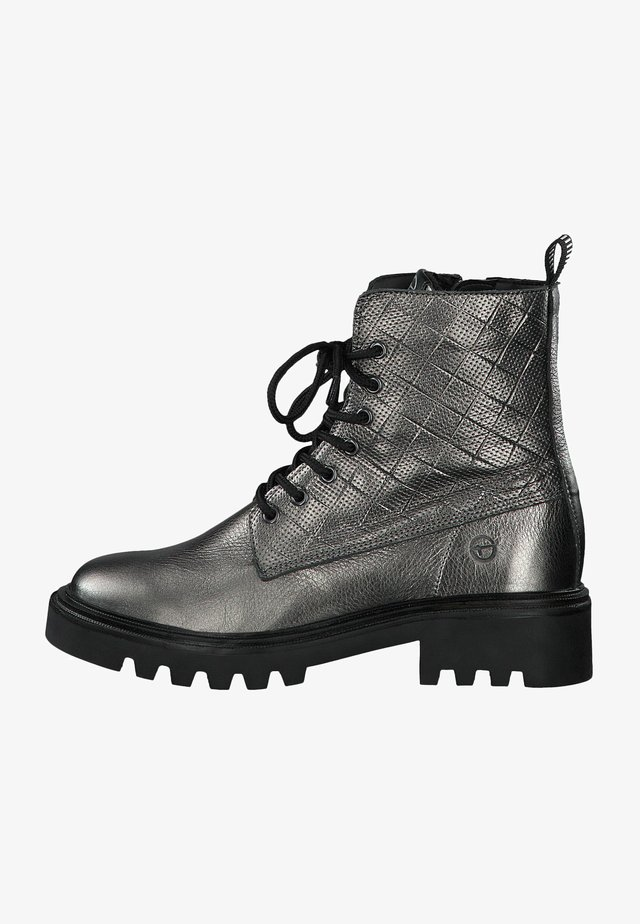 Lace-up ankle boots - pewter