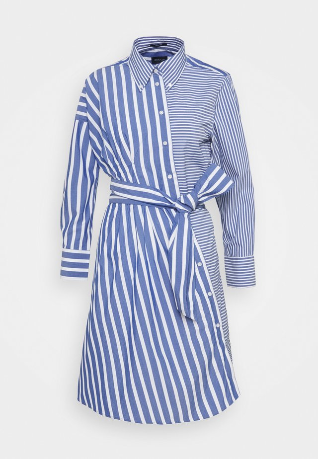 STRIPED KNOT DRESS - Shirt dress - college blue