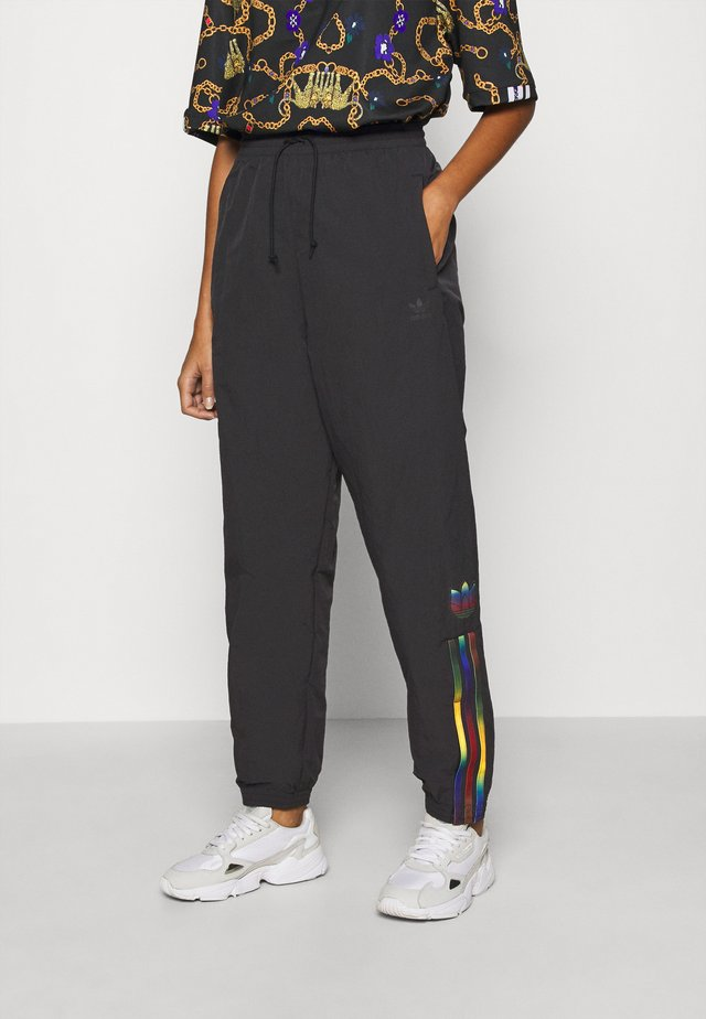 PAOLINA RUSSO ADICOLOR SPORTS INSPIRED MID RISE PANTS - Verryttelyhousut - black