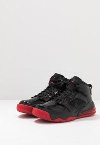 Jordan - MARS 270 - Korkeavartiset tennarit - black/anthracite/gym red - 3