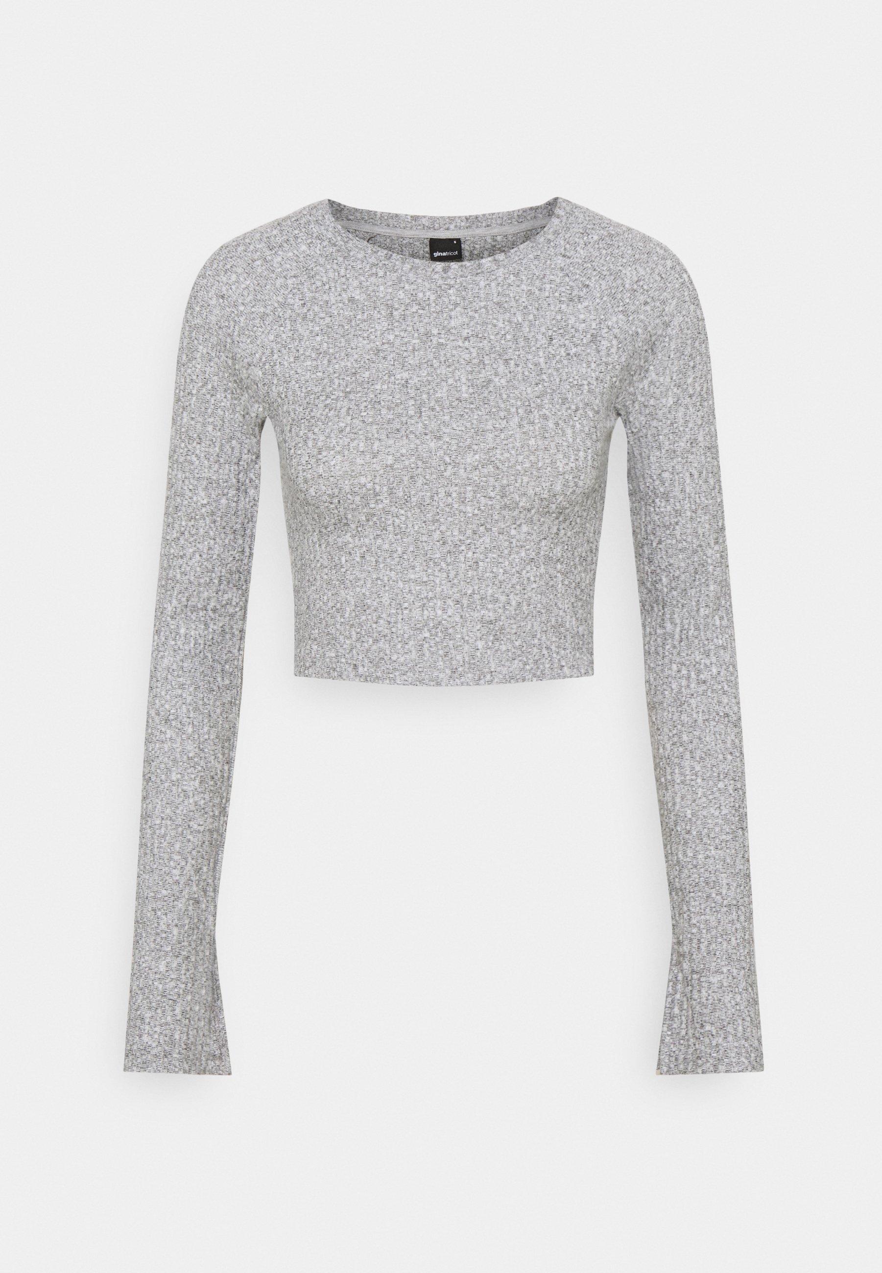 Women KINSLEY - Long sleeved top - grey melange
