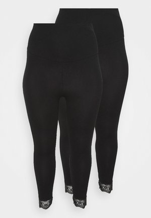 MLELIANA 2 PACK  - Leggings - black