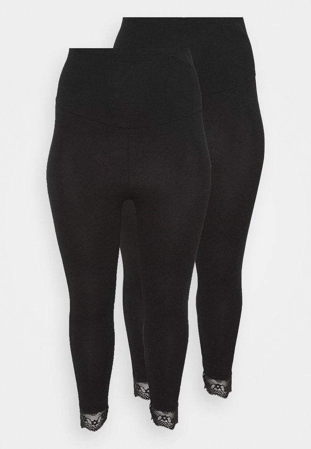 MLELIANA 2 PACK  - Leggings - black