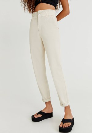 PAPERBAG - Relaxed fit jeans - white