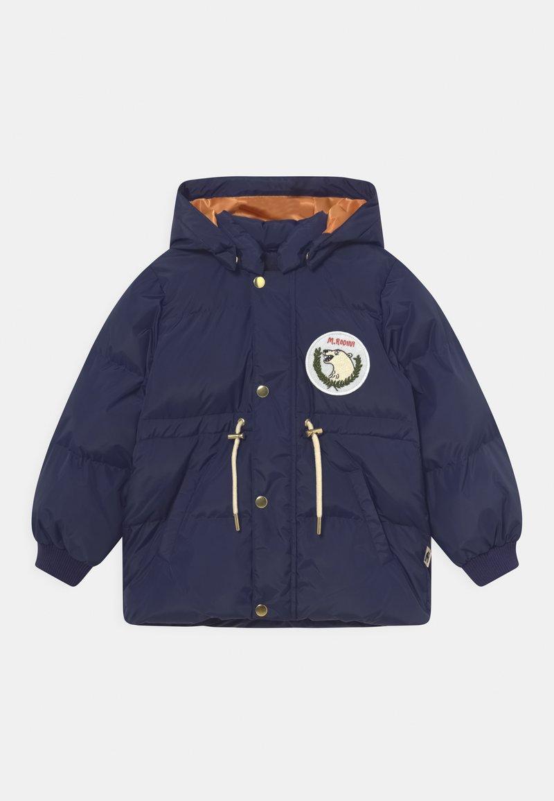 Mini Rodini - POLAR BEAR PATCH PUFFER UNISEX - Winter coat - navy